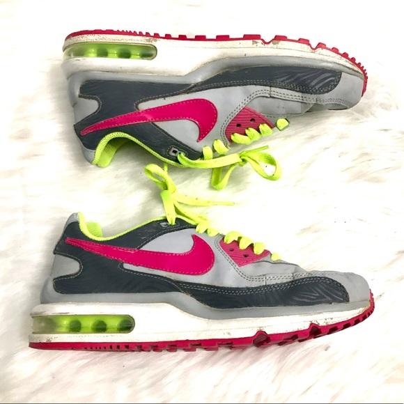Nike Air Max 90 Trainers BlackRed sz 5.5 BoysGirls GS
